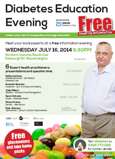 Bite Dental takes part in free Diabetes educational evenings around Brisbane