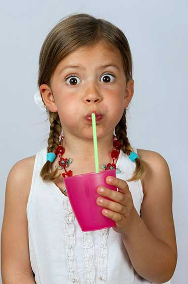 Using a straw with sweet beverages can help to minimise the impact that the included sugar has on your teeth and gums