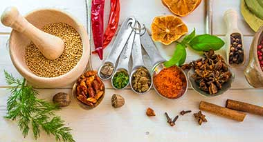 Herbs and spices have chemicals that can improve the environment in your mouth, to keep your teeth and gums healthy