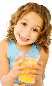 Juice acids harm children's teeth through erosion